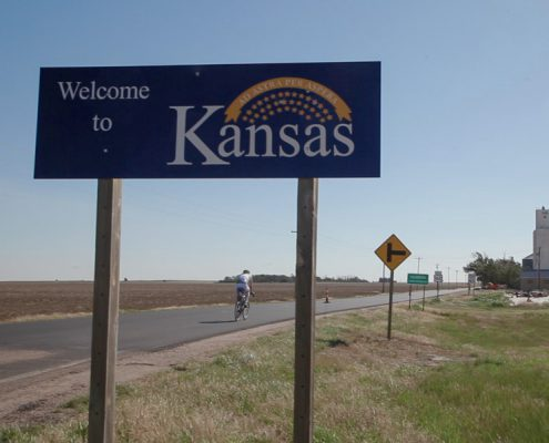 Kansas beim Race Across America