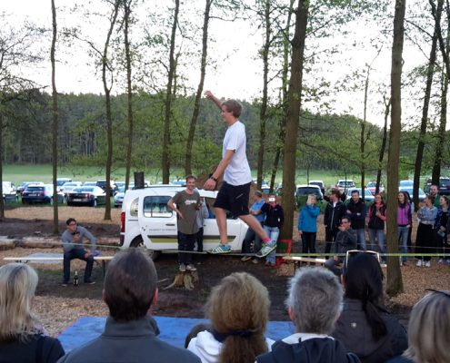 Slackline Workshop beim Sportsday
